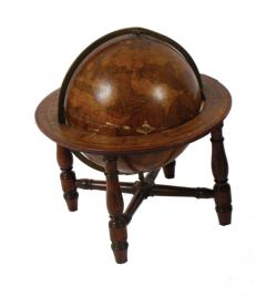 Pair of  18th century terrestrial globes, by Gabriel Wright (3,000-5,000).