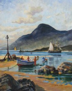 David Cobb, ROI, RSNA, Born 1921, Mountains of Mourne (300-500).
