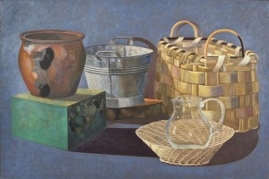Stephen McKenna PRHA (b.1939) Basket and Vessels  (8,000-12,000).