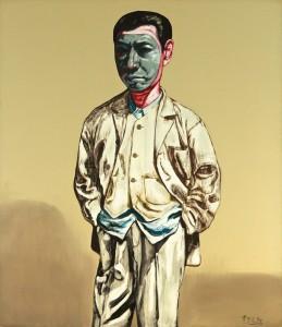 Zeng Fanzhi (b1964)   Mask Series No. 14, 1994 ($1.2-1.5 million).