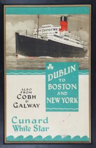 An original Cunard poster estimated at 600-800.