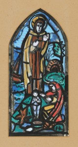 Evie Hone (1894-1955) - Design for stained glass window, Kilmilkin Church, Maam, Connemara 1950 (1,200-1,500).