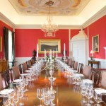 The dining room after restoration.