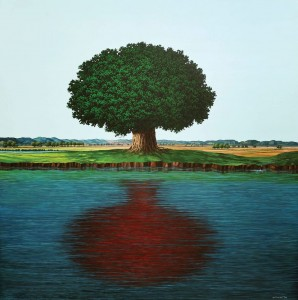 Rudi Mantofani (b1973)  Bayangan Merah (Red Shadow), 2009 ($48,000-61,000).