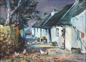 Kenneth Webb (born 1927) - The Claddagh, Galway (1,500-1,800).