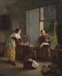 Howard Helmick (1845-1907) ''The Bibliophile'' (3,000-5,000)