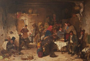 Erskine Nicol RSA ARA (1825-1904) A Shebeen at Donnybrook (80,000-120,000)