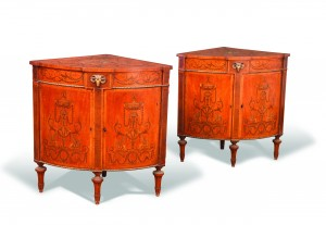 These late 18th century Irish commodes sold for £115,000 at Cheffins.