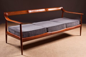 A chair back settee, Danish, 1960's (1,000-1,500).