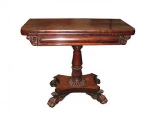 An Irish (Cork) Regency foldover tea table c1800 (2,000-4,000).