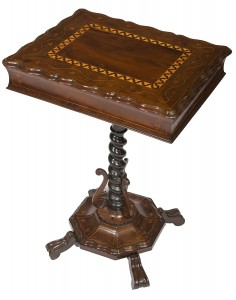 A 19th century Killarney work table (2,000-3,000).