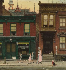 Walking to Church signed Norman Rockwell (lower left) oil on canvas Painted in 1953.