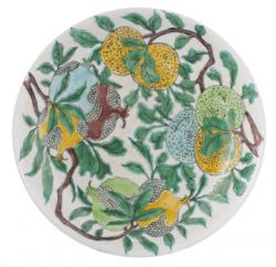 Pomegranate decorated Qing plate (1,000-1,500).