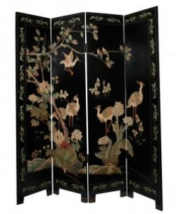 Chinese lacquered screen (400-600).