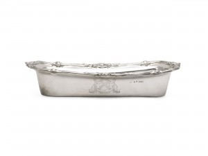 This Irish silver knife tray is at Sotheby's in London on September 24.