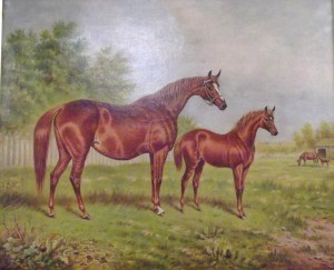 Mare and foal by William Eddowes Turner (1820 - 1885) is estimated at 500 - 1,000