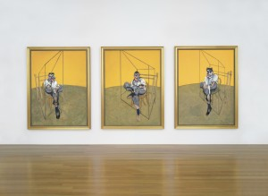 Francis Bacon (1909-1992) Three Studies of Lucian Freud each (unframed): 78 x 58 in. (198 x 147.5 cm.)  oil on canvas Painted in 1969
