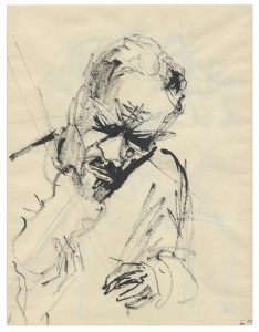 More than a talented writer, Christy Brown was an artist too. Here is a self-portrait in which he imagines himself as a violinist.