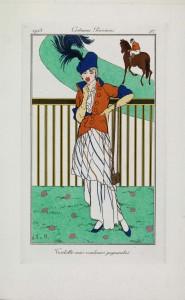Toilette aux couleurs gagnantes, Jan van Brock, from Journal des Dames et des Modes, engraving and pochoir, 10 July 1913, Paris, France, CBL Wep 0885, ©Trustees of the Chester Beatty Library