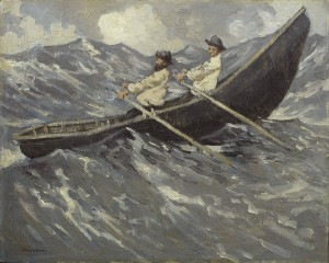 Paul Henry R.H.A. (1876-1958) - The Currach (click on image to enlarge).
