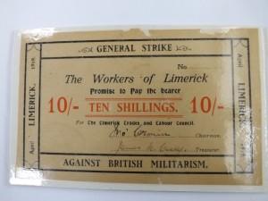 The Limerick Soviet ten shilling note.