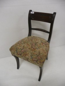 A set of six Cork Regency mahogany dining chairs on sabre legs (800-1,200)