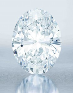 The 118.28-carat D-Flawless diamond (click on image to enlarge).