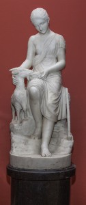 LATE 19TH CENTURY ITALIAN CARVED WHITE MARBLE FIGURE, (1,500-2,500).
