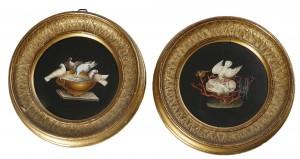 A pair of 19th century Roman micromosaic circular panels (5,000-7,000).