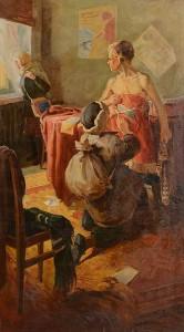 Ivan Nikolaevich Aristov (1917-1993) The Hiding of the Revolutionary Flag