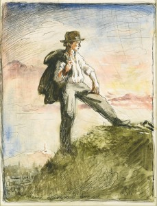 Self Portrait - Dawn, Huddersfield, one of a collection of five sketches by Sir William Orpen estimated at £10,000-15,000.