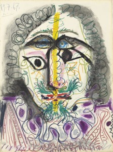 Pablo Picasso (1881-1973)  Mousquetaire, buste  ($600,000-800,000). Courtesy Christie's Images Ltd., 2013