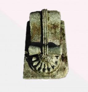 A Georgian cut granite scroll corbel.