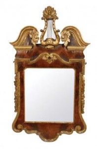 A C1735 Dublin made George II pier mirror (5,000-8,000).