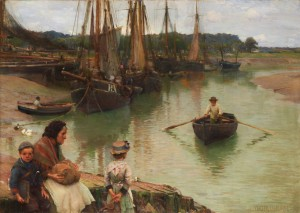 The Ferry by Walter Osborne (1859-1903) at de Veres.