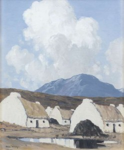 Paul Henry RHA RUA (1876-1958) A Connemara Village (1939) Oil on board (50,000-70,000)