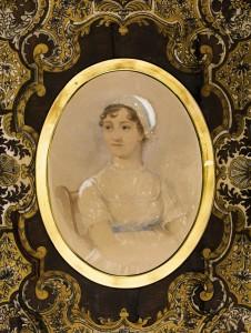 Jane Austen Portait with frame.