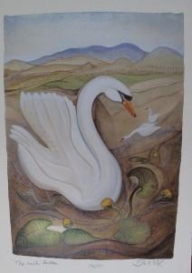 Pauline Bewick, The Irish Swan, lithograph (200-300)