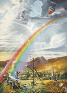 One of a set of ten original artworks by Gerard Glynn entitled Find the Crock of Gold.