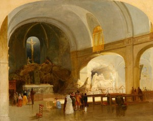 James Mahoney (1810-1879) - The Church of St. Roch, Paris.