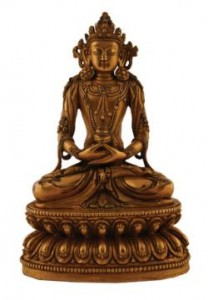 Ming period gilt bronze Buddha,Tibeto-Chinese, Yongle mark and period 1403-24 (20,000-30,000).