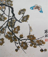 Qi Bashi (1863-1957) Study of butterfly, dragonfly and foliage  (10,000-15,000).