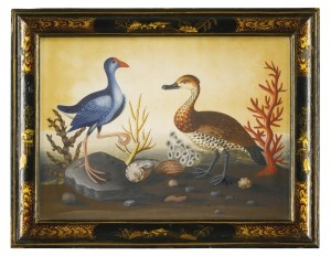 A SET OF TEN GEORGE II EMBOSSED BIRD PICTURES CIRCA 1750, ATTRIBUTED TO SAMUEL DIXON  (£40,000-60,000)