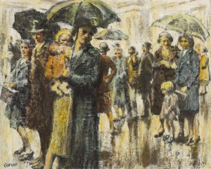 William Conor (1881-1968) RAINY DAY, BELFAST (18,000-22,000).