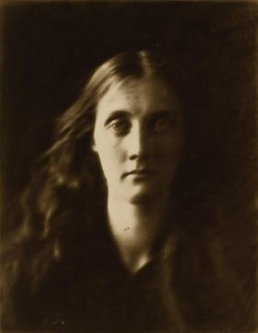 Julia Cameron's portait 'Stella', a study of Mrs Herbert Duckworth (1867)  Cameron's goddaughter   and the mother of Virginia Woolf