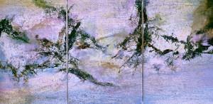 Zhao Wuji (1921–2013) 18.0I.95 Triptyque 1995 © Ashmolean Museum