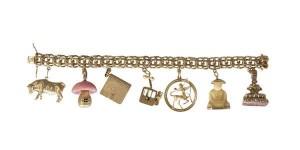 An 18 carat gold charm bracelet (2,000-4,000)