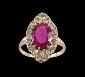 A diamond and ruby ring (4,000-6,000)