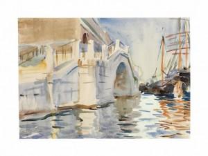 John Singer Sargent, R.A., R.W.S., H.R.S.A. (1856-1925) A Bridge in Venice - pencil and watercolour (£100,000-150,000). Courtesy Christie's Images Ltd., 2013