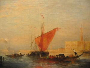 Oil on canvas by FELIX ZIEM [French 1821-1911] (5,000-10,000).
